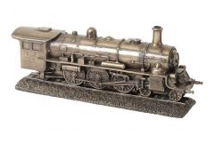 Milbeck Bronze Finish Steam Train Sculpture