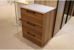 Alegro - 3 Drawer Chest & Glass Top - Clearance