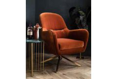 Anna - Swivel Chair (Orange) - Clearance