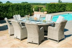 Bermuda - 8 Seat Dining Set with Fire-pit/BBQ