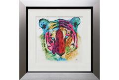 Tiger Pop Liquid Art Picture