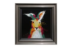 Multi Hare on Black Liquid Art