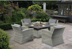 Cuba - 4 Seat Fire-pit Dining Set  (Hurry - Limited Stock)