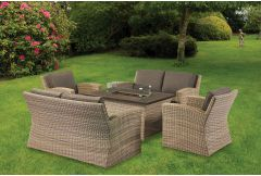 Cuba - Lounge Set with Fire-Pit  (Hurry - Limited Stock)