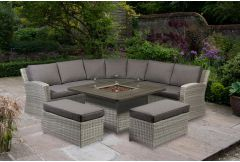 Cuba - Curved Corner Set with Fire-Pit (Hurry - Limited Stock)