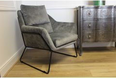 Dali - Armchair in Misty Grey