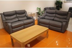 Denver - 2 x Double Power Reclining Sofas - Clearance