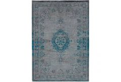 Fading World Rug - Grey Turquoise