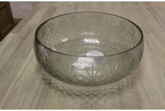Redhead Glass Cut Diamond Bowl - Clearance