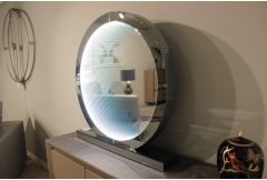 Infinity - large Smoked Mirror Round Table Lamp - Clearance
