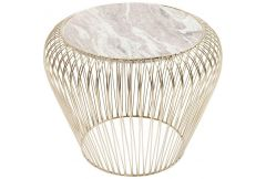 Side Table Beam Grey Marble Brass