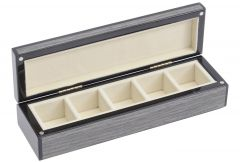 'Lismore' Grey Gloss Cufflink Box - Clearance