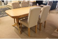 Lulworth - Double Pedestal Table & 4 Chairs