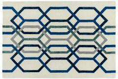 Matrix Rug - Hexagonal White