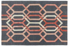Matrix Rug - Hexagonal Charcoal