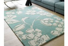 Matrix Rug - Devore Blue