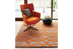 Matrix Rug - Wire Orange