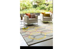 Matrix Rug - Hexagonal Silver