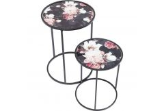 Side Table Peony (Set of 2)