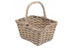 Square Basket with High Handle