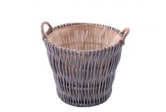 Log Basket with Rope Ear Handles