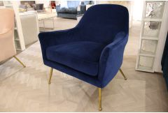 Westlyn - Accent Chair (Navy Blue) - Clearance