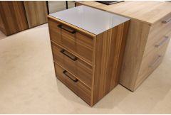 Algero - 3 Drawer Chest & Glass Top - Clearance