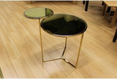 Ava - Lamp Tavble with Gold Mirror Top - Clearance