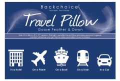 Backchoice Travel Pillow - Goose Feather & Down