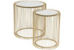 Side Table Wire Brass Set of 2