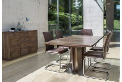 V-shaped Walnut - Table with 2 leaves (SM37)