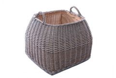 Log Basket Square Tapered with Ear Handles