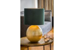 Strado Table Lamp Bronze Base with Green Velour Shade